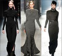 """Платья длиной  """"в пол """" могут быть в стиле goddess (с асимметричными..."""