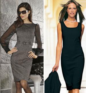 Деловые женские платья, фото